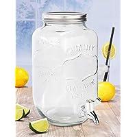 Getränkespender Kanne Karaffe Wasser-Spender 2L mit 4 Bechern Getränkespender