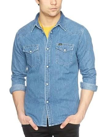 Lee Men 39 S Western Long Sleeve Classic Slim Fit Shirt