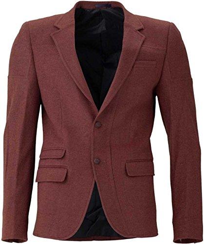 YAKE by S.O.H.O. NEW YORK Sakko Herren Slim Fit - Blazer Herren Sportlich Sheffield, Farbe: Cognac_Braun_012, Größe: 54 (Klappe Übergroße)