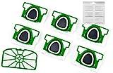 Hepa-Set 6 Staubsaugerbeutel Premium + Motorschutzfilter + Duftchips geeignet für Vorwerk Kobold VK 200