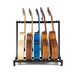 allright guitar stand multi acoustic guitar rack bass stand 5 way musical instruments. Black Bedroom Furniture Sets. Home Design Ideas