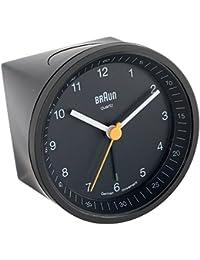 Braun BNC-007-BKBK - Reloj despertador analógico, con luz retardada, color negro