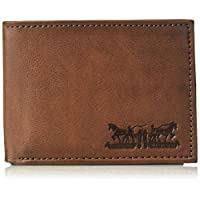 Levis Mens Wallet, Card Case & Money Organizer, Brown, 14 31LV220010