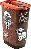 Rotho 4002010533 Aufbewahrungsbox für Tierfutter aus Kunststoff - Cody Trockenfutter-Schüttdose