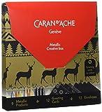 Caran D'Ache Mtallic Boîte Créative : Set Métallique Cartes De Noël