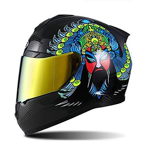 MMRLY Erwachsene Motorrad voller Gesicht Helm/DOT-Zertifizierung/ECE Vierrad ATV Mountainbike Flip up Anti-Kollision MX Langlauf-Crash-Helm,L