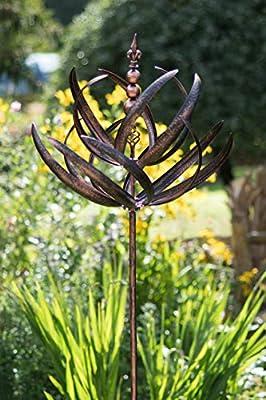 Creekwood 48049Windsor Wind Skulptur Spinner 220cm Height-Brushed, Kupfer, 70x 70x 220cm von Creekwood auf Du und dein Garten