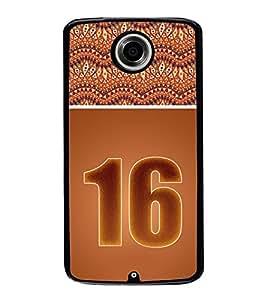 Fuson Designer Back Case Cover for Motorola Nexus 6 :: Motorola Nexus X :: Motorola Moto X Pro :: Google Nexus 6 (designer pattern theme rangoli art )