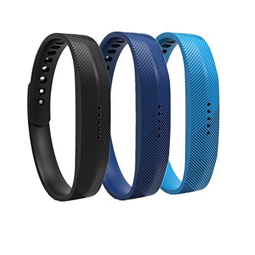 WEINISITE Armband für Fitbit Flex 2, Soft Silikon Ersatzarmband für Fitbit Flex 2 Aktivitäts-Tracke (Set 2, L)