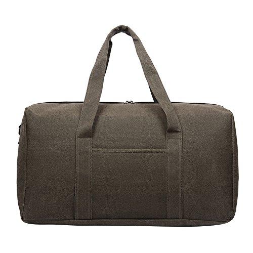 Aneil Large Canvas Gepäck Tote Herren Weekender Duffle Bag Oversize Wasserdicht Reisen über Nacht Sport Supplies, Coffee A (Bag Zusammenklappbar Duffle)