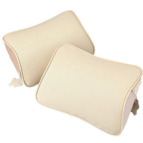 koyoso-poggiatesta-cuscino-auto-collo-supporto-cuscini-in-pelle-ergonomico-memory-cotone-beige