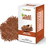NutroActive Flax Seeds 250g, Natural, Wh...