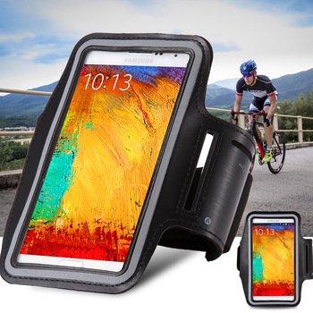 Preisvergleich Produktbild Sport Armband Sports Case für HTC Desire 816, HTC One Max Sportarmband Tasche Sport Schutzhülle Farbe Schwarz Grau Color Black Grey Negro XXXL