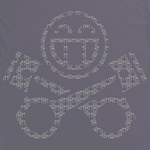 PistonHeads Smiley Repeat T-Shirt, Damen Anthrazit