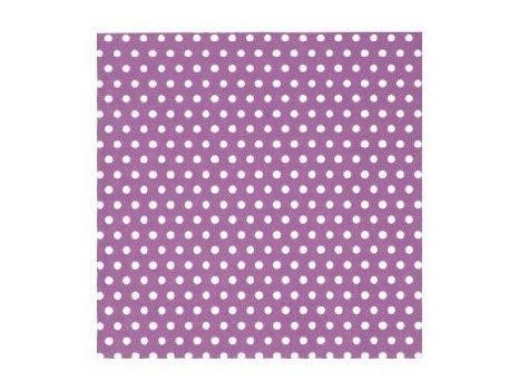 ti-flair - Servietten - Bolas lila - Punkte / gepunktet / weiß lila 24x24cm Cocktail Lila Cocktail