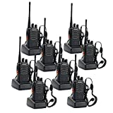 Sunreal Baofeng BF-888s Walkie Talkie, Funkgeräte Set 400-470MHz Radio Portable 16 Kanäle Sprechfunkgerät Handfunkgerät Wiederaufladbar Profi Taschenlampe (mit Headset)