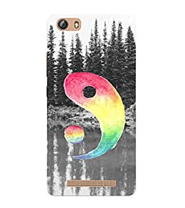 For Gionee Marathon M5 lite tree, river, multi color circle Designer Printed High Quality Smooth Matte Protective Mobile Case Back Pouch Cover by APEX
