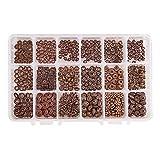 PH PandaHall 540 stücke 18 Arten Rot Kupfer Tibetischen Legierung Spacer Perlen Schmuckzubehör für Armband Halskette Schmuck Machen
