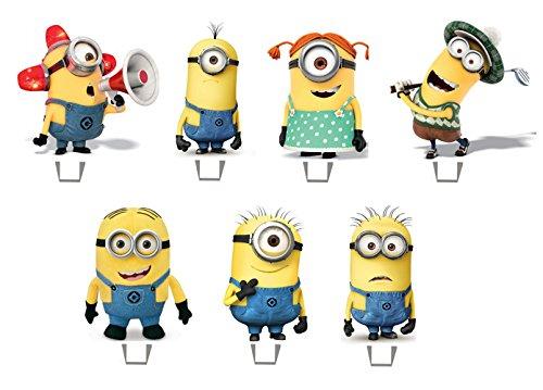 19 x 19 x Despicable Me Minions Stand Up comestibles décorations de gâteau
