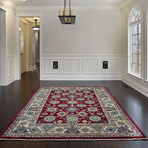 Mynes Home UK Alfombra Suave al Estilo Tradicional Oriental con diseño clásico confinado para Sala...
