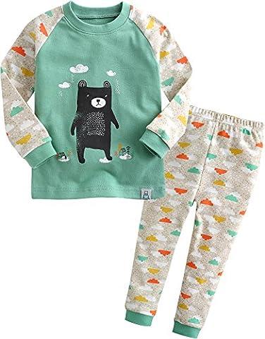 Vaenait Baby Kinder Jungen Nachtwäsche Schlafanzug-Top Bottom 2 Stuck Set