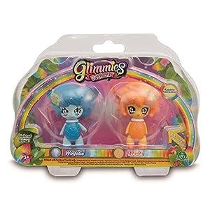 Glimmies - Serie 2 Blister 2 Figuras Wolfelie + Linxia (Giochi Preziosi GLN01000)