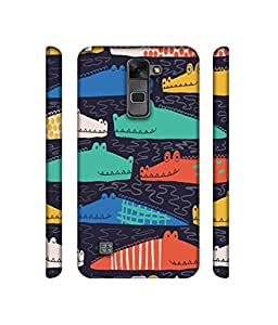 NattyCase Crocodile Pattern Design 3D Printed Hard Back Case Cover for LG Stylus 2
