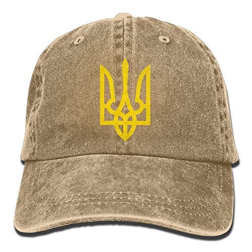 False warm warm Tryzub Plain Adjustable Cowboy Cap Denim Hat for Women and Men