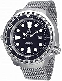 Very big 52mm Automatic Diver-Helium Velve- Sapphire- Milanaise strap T0254MIL