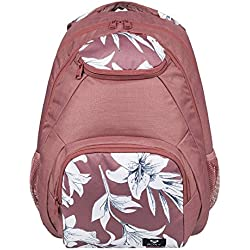 Roxy Shadow Swell Mochila Mediana, Mujer, Azul/Rosa (Withered Rose Lily House), 24 l