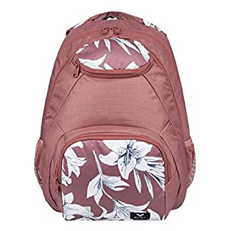 51yOyvcFRzL. SS324  - Roxy Shadow Swell Mochila Mediana, Mujer, Azul/Rosa (Withered Rose Lily House), 24 l