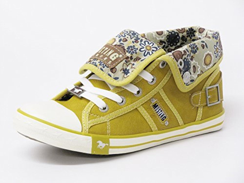 Mustang Mujeres Zapatos con Cordones Amarillo, (Gelb) 5803-505 667
