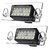 LED Licht - SODIAL(R)2x Kennzeichenbeleuchtung Error 18 LED SMD Kennzeichen Leuchten Licht fuer A4 S4 B5 1998-2001 weiss