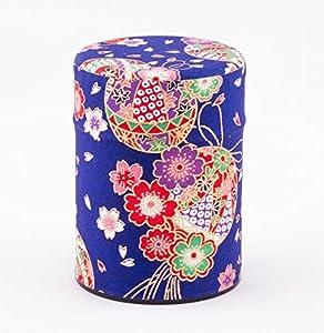 Boîte de thé, recouvert de papier de soie japonais, motif boule, 40 g,