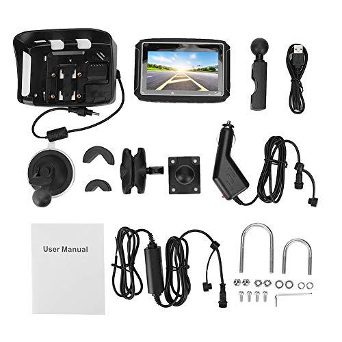Navegador GPS, 4.3 Pulgadas Navegador de Voz a Prueba de Agua Moto GPS Navegación en Inglés Chino