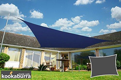 Kookaburra Sonnensegel Wasserabweisend 4,0m x 3,0m Rechteck Blau