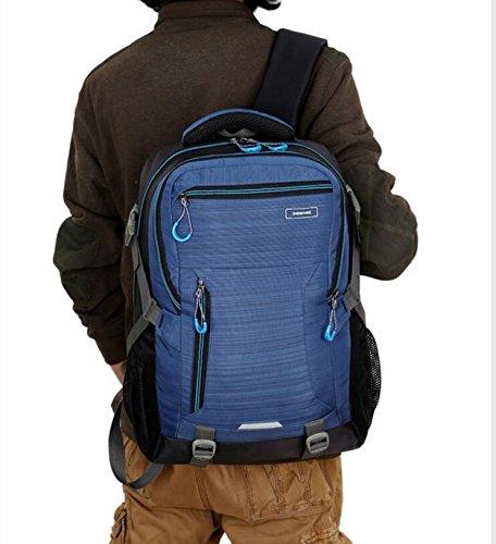 LQABW Panno Studente Spalla Computer Uomini Di Viaggio Di Grande Capienza Outdoor Alpinismo Casual Sports Pack Di Oxford Impermeabile Zaino Borsa,Blue Blue