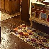 BAOZIV587 3D Seidenteppich Kreative Boden Aufkleber Wohnkultur Küche Wohnzimmer Badezimmer Wasserdicht Rutschfeste Grüne PVC Selbstklebende Wandaufkleber Abnehmbar