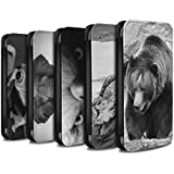 Stuff4 Coque/Etui/Housse Cuir PU Case/Cover pour Samsung Galaxy S6/G920 / Multipack (20 Pack) Design / Animaux de zoo Collection