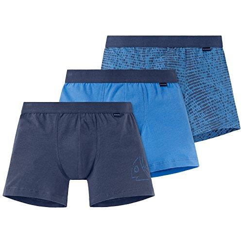 Schiesser Jungen Boxershorts Multipack 3Pack Shorts 3er Pack, Mehrfarbig (Sortiert 901), 152 (Fischgräten-single)
