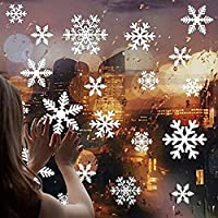 DIY Christmas Window Stickers Removable Christmas Window Decorations Glass Sticker-Snowflake