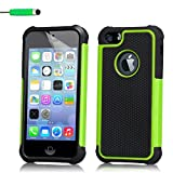iPhone 4 4S Case by 32nd Shockproof Heavy Duty Defender Tough Shell Cover Suitable for Apple iPhone 4 4S - Green