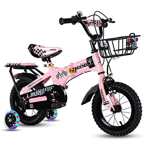 Kinderfahrrad für Mädchen und Jungen, Laufräder für 12 14 16 18 Zoll Fahrrad, in Mehreren Farben (Farbe : Rosa, größe : 14 inches)