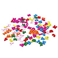 LnLyin Wooden Alphabet Scrabble Letters Numbers Children