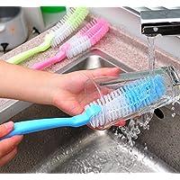 2pcs Bottiglia Coppa Spazzola di pulizia per cucina lavaggio pulizia strumenti colore casuale
