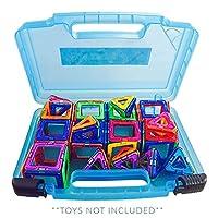 Magnetico giocattolo Organizzatore e deposito custodia * * *-perfettamente progettato per adattarsi a tutti del vostro bambino pezzi magnetici e giocattoli. Facile giocare e costruire in movimento. -La mia scatola magnetica può contenere oltre un 45 ...