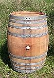 Stehtisch, Tisch aus Holzfass, Weinfass ganz geschlossen aus Eiche - 300 Liter