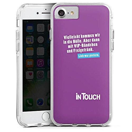 Apple iPhone 8 Bumper Hülle Bumper Case Glitzer Hülle Hoelle Hell Vip Bumper Case transparent