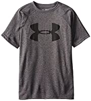 Under Armour Boys' UA Tech Big Logo Short-Sleeve T-Shirt, Carbon Heather 090, XL