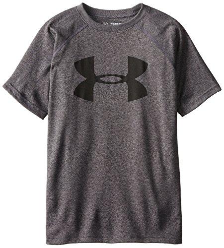 Under Armour Jungen Fitness - T-shirts & Tanks Kurzarmshirt, Carbon Heather, L